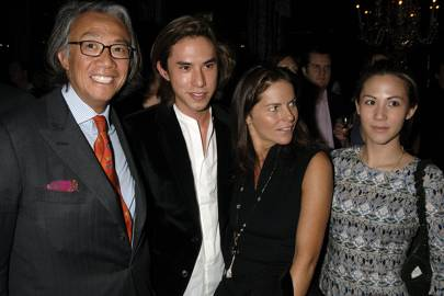 Sir David Tang, Edward Tang, Lady Tang and Victoria Tang, 2006