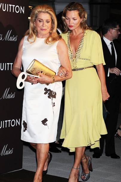 Catherine Deneuve and Kate Moss