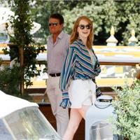 Emma Stone arriving at Venice Film Festival