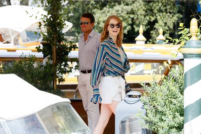 Emma Stone arriving at Venice Film Festival