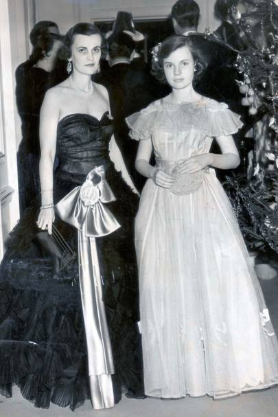 With daughter Frances Helen in 1951