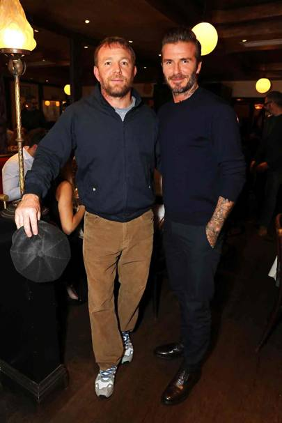 Guy Ritchie and David Beckham
