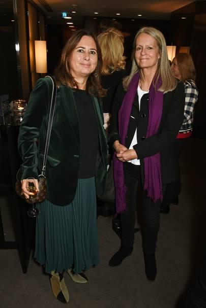 Alexandra Shulman and Lady Jane Wellesley