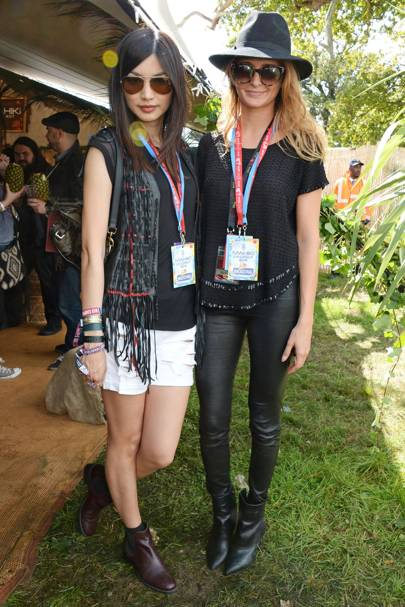 Gemma Chan and Millie Mackintosh