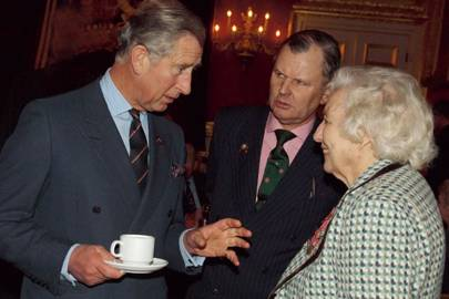 The Prince of Wales, Brigadier Michael Heywood and Dame Vera Lynn