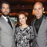 Mark Strong, Jessica Chastain and Henry Cavill