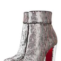 Christian Louboutin sequin boots