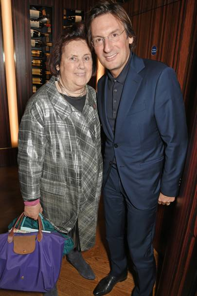 Suzy Menkes and Pietro Beccari