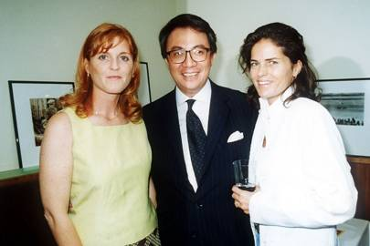 Sarah, Duchess of York, Sir David Tang and Lady Tang, 2001
