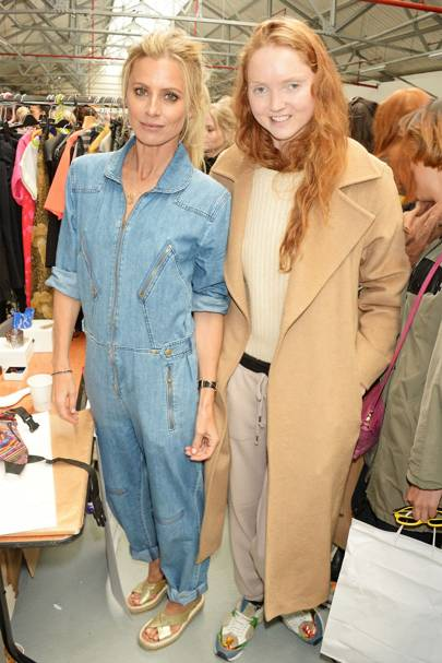 Laura Bailey and Lily Cole