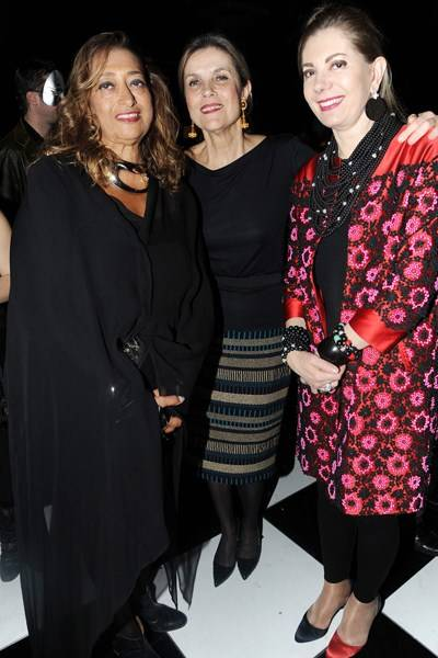 Zaha Hadid, Lady Palumbo and Hala Fares