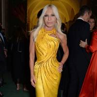 Donatella Versace at the Green Carpet Fashion Awards
