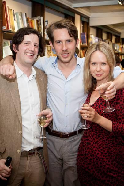Philip Womack, Richard Godwin and Johanna Thomas Corr