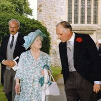 Queen Elizabeth the Queen Mother and James Leschallas