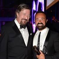 Stephen Fry and Evgeny Lebedev