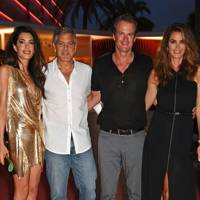 Amal Clooney, George Clooney, Rande Gerber and Cindy Crawford