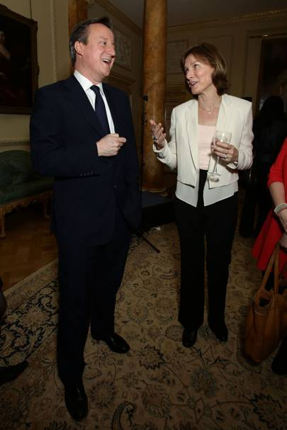 David Cameron and Fiona Bruce