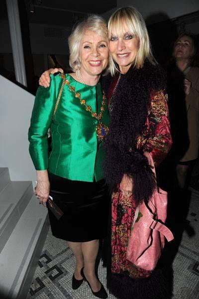 Virginia Bates and Zandra Rhodes