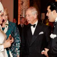 Sheikha Amna bint Mohammed Al Thani, Princess Michael of Kent, the Prince of Wales and Sheikh Hamad bin Abdullah Al Thani