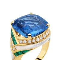 Gold, diamond, sapphire, emerald & mother-of-pearl ring, POA, by Bulgari