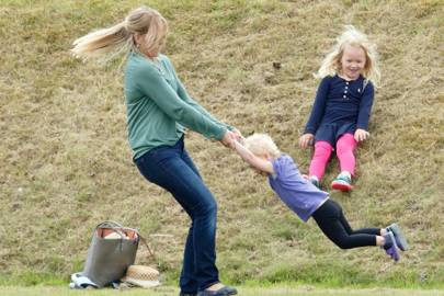 Autumn Phillips, Isla Phillips and Savannah Phillips