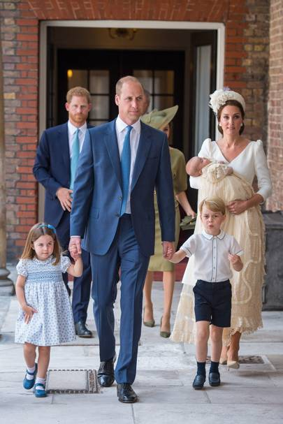 Princess Charlotte, the Duke of Cambridge, Prince George, Prince Louis and the Duchess of Cambridge