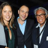Jemima Jones, Ben Goldsmith and Sir David Tang
