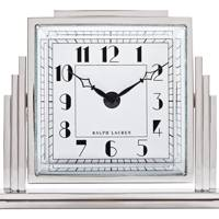 Nickel-plated brass & aluminium clock