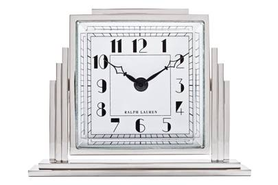 Nickel-plated brass & aluminium clock