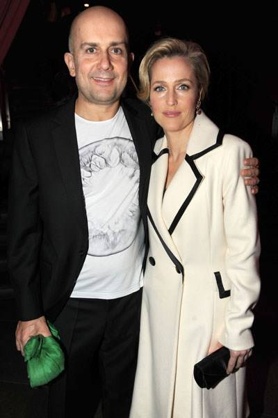 Marc Quinn and Gillian Anderson
