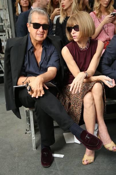 Mario Testino and Anna Wintour