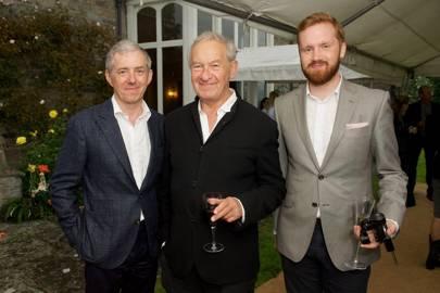 Bill Prince, Simon Schama and Conrad Quilty-Harper