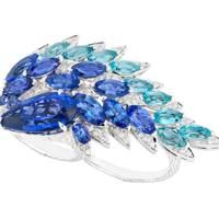 Tanzanite, aquamarine and diamond ring, £28,000, Stephen Webster