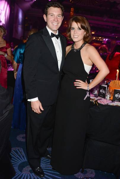 With Jack Brooksbank at the Boodles Boxing Ball, 2013