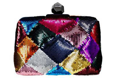 Sequinned leather clutch, £1,750, by Roger Vivier