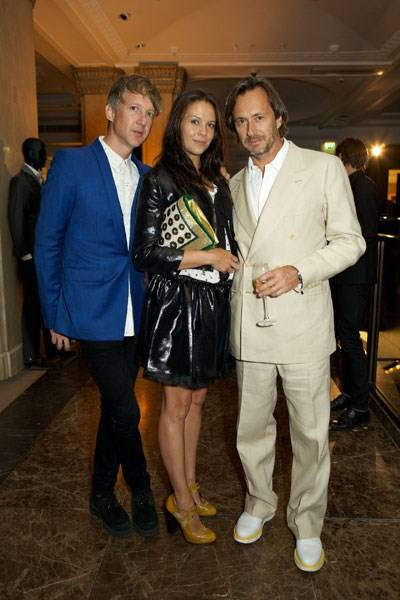Jefferson Hack, Charlotte Stockdale and Marc Newson