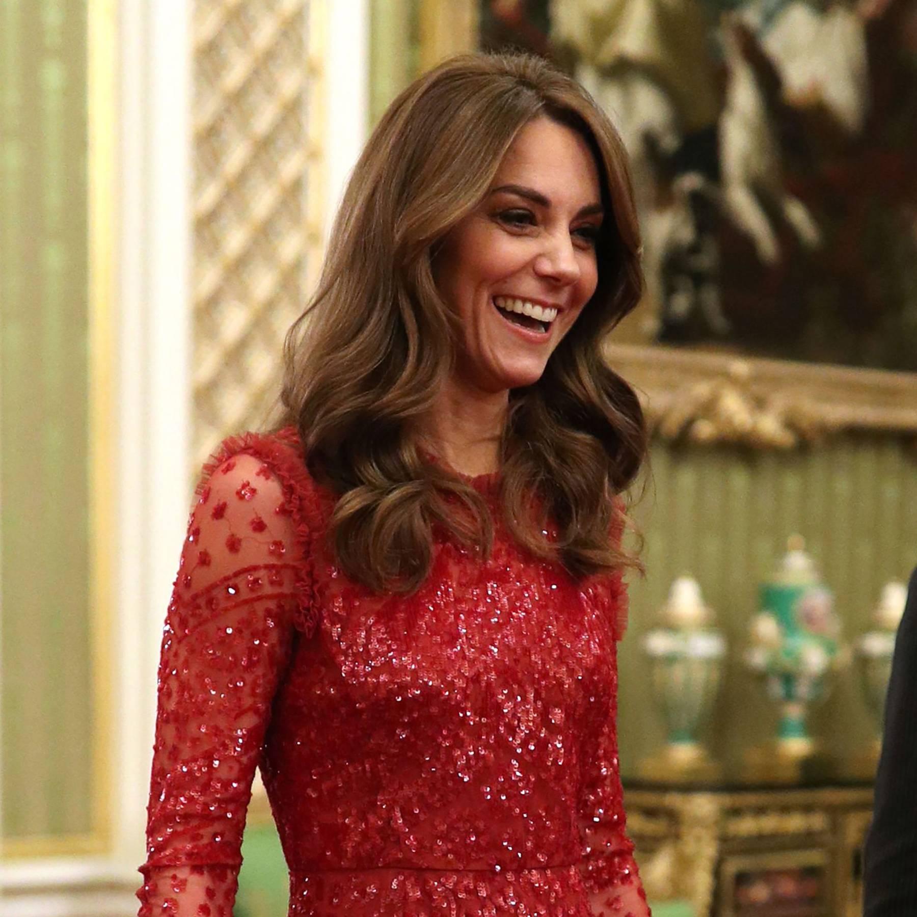 The Duchess of Cambridge wears Needle & Thread at Buckingham Palace