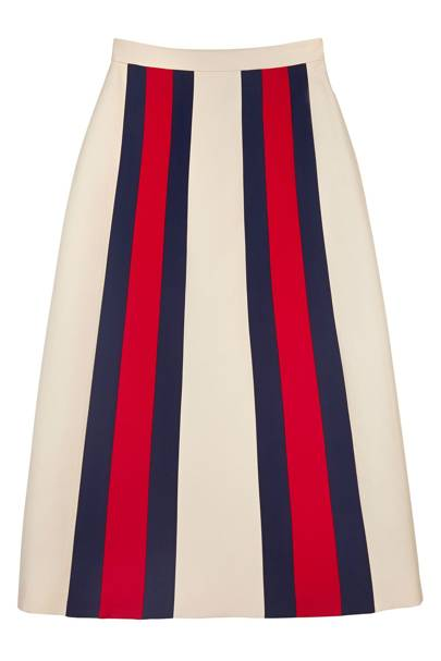 SILK & WOOL SKIRT, £725, BY GUCCI