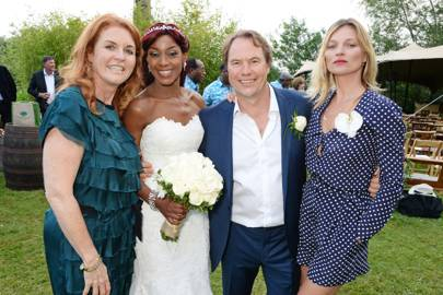Sarah, The Duchess of York, Phoebe Vela, John Hitchcox and Kate Moss