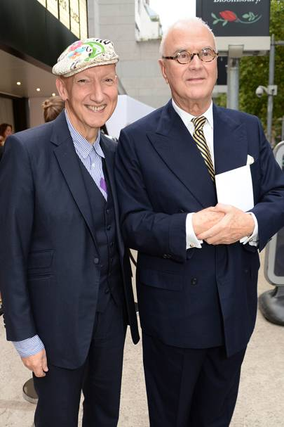 Stephen Jones and Manolo Blahnik