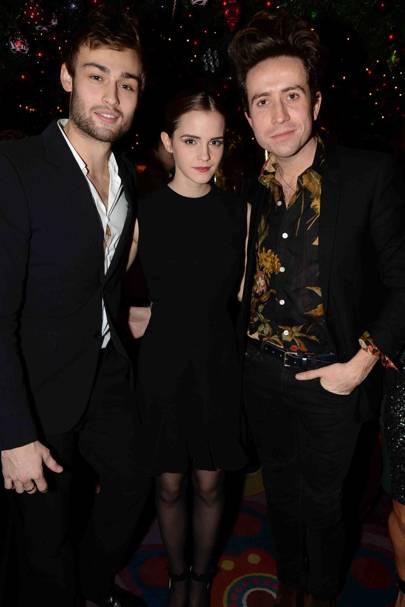 Douglas Booth, Emma Watson and Nick Grimshaw