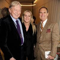 Jeremy Lloyd, Lizzy Moberly and AA Gill