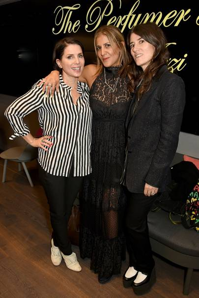 Sadie Frost, Bella Freud and Azzi Glasser