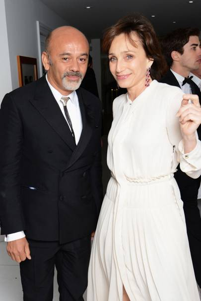 Christian Louboutin and Kristin Scott Thomas