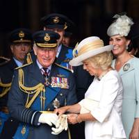 The Prince of Wales, the Duchess of Cornwall and the Duchess of Cambridge