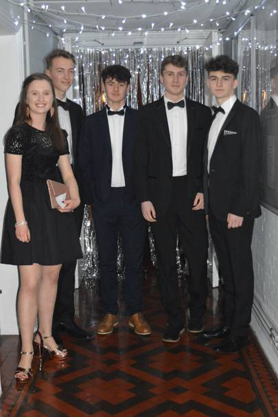 Martha Lawrence, Ollie Dennis, Fin Johnston, Aaron Campbell and Ollie Wilkinson