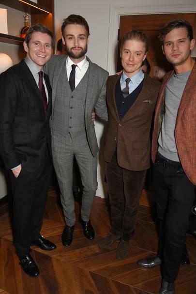 Allen Leech, Douglas Booth, Freddie Fox and Jeremy Irvine