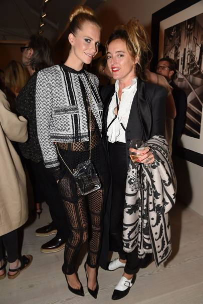 Poppy Delevingne and Alice Temperley