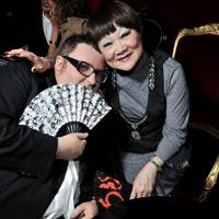 Alber Elbaz and Shaw-Lan Wang