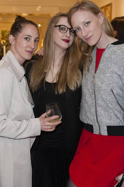 Poppy de Villeneuve, Jade Parfitt and Daisy de Villeneuve